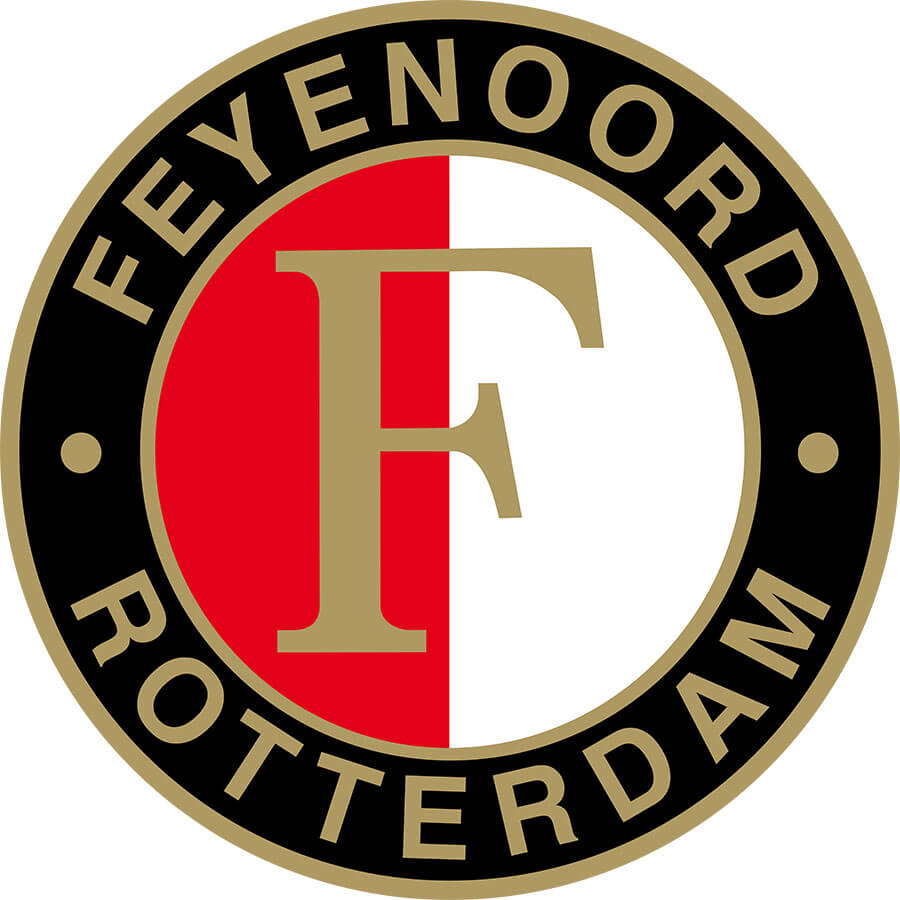 Feyenoord Vlag Thuis, 100x150cm, rood/wit